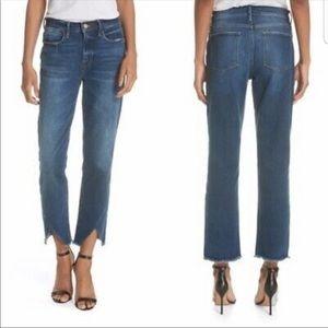 Frame Le High Straight Asimetrical Jeans sz.30 $65